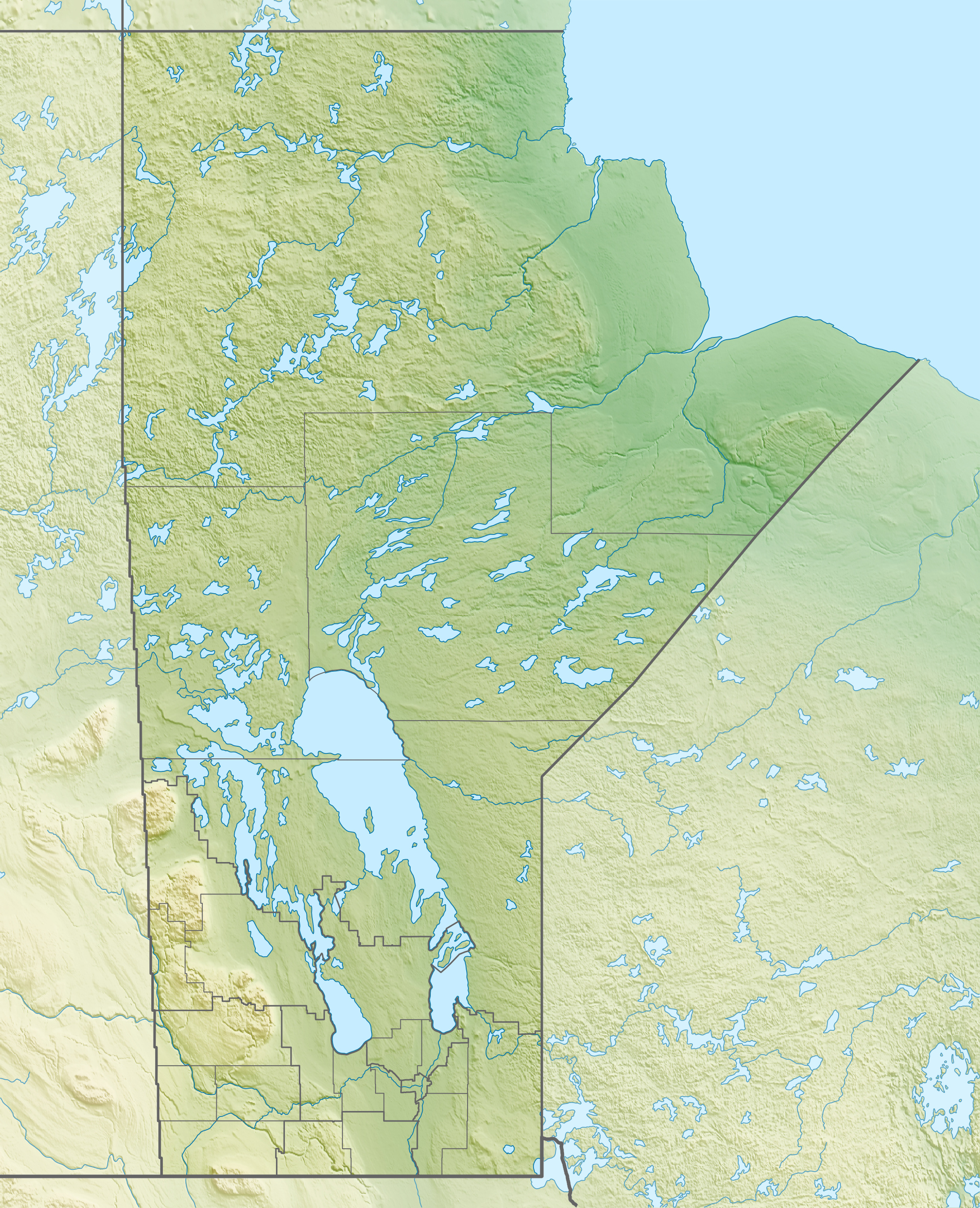 FileCanada Manitoba Relief Location Mapjpg Wikimedia Commons - Relief map of canada