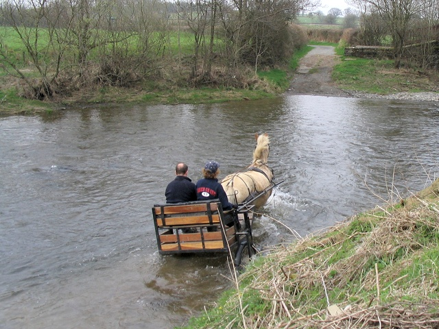 File:Cart crossing ford on River Irfon south of Beulah - geograph.org.uk - 157280.jpg