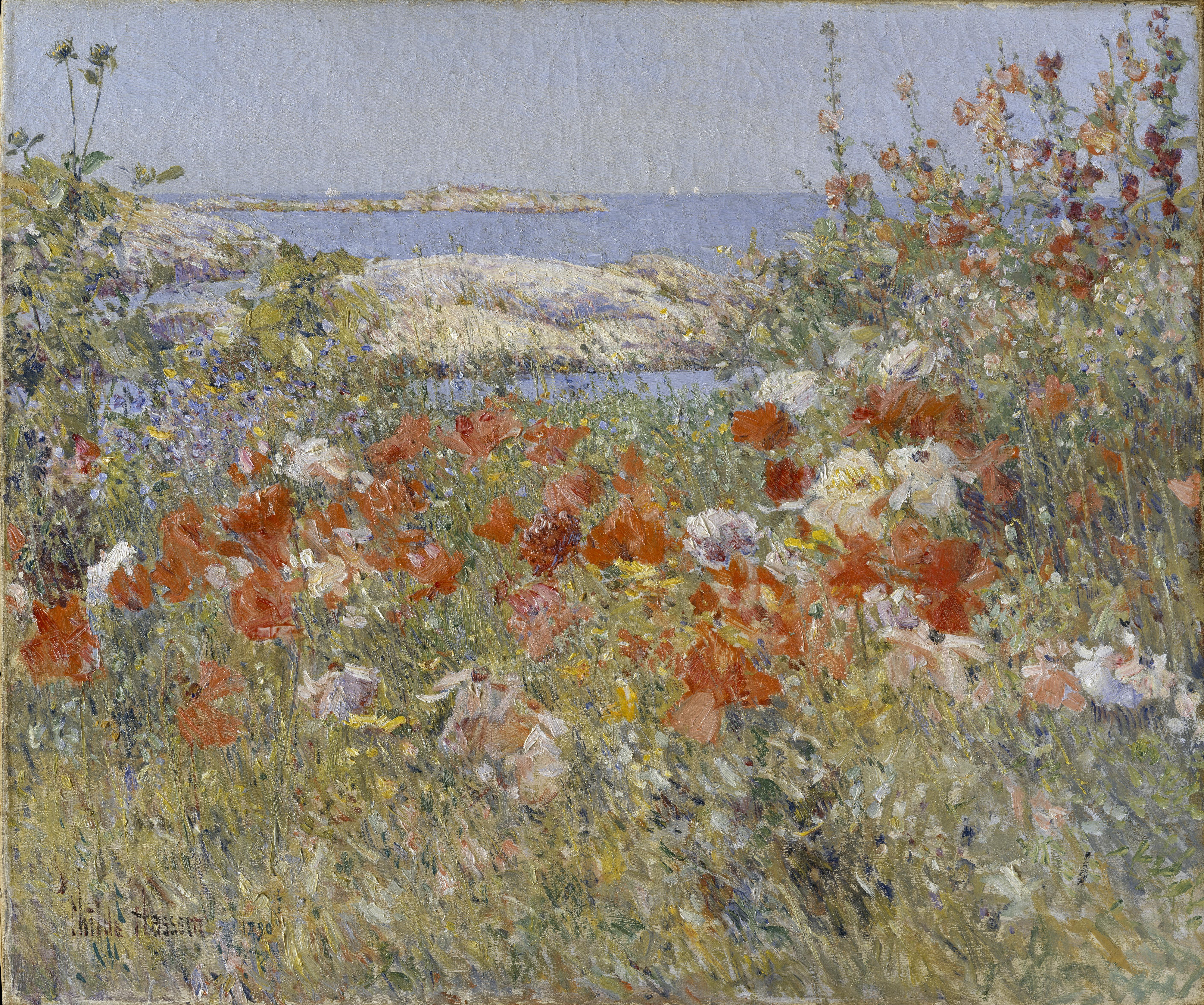 English country garden paintings - File Celia Thaxter S Garden Jpg