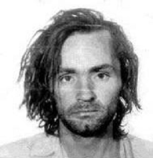 Charles Milles Manson booking photo for San Quentin State Prison, California (CII 966 856) 1971