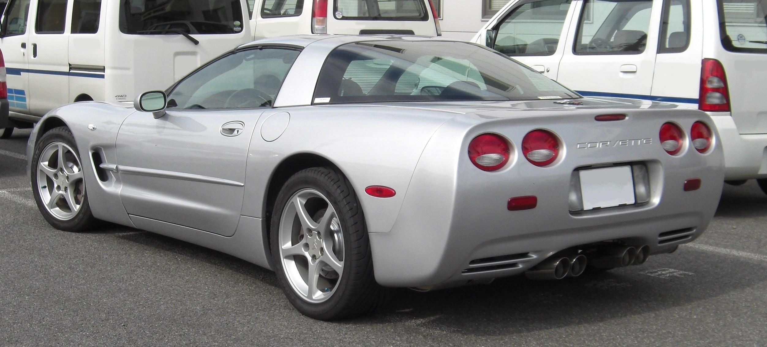 C Corvette   Domed Custom Painted Lettering