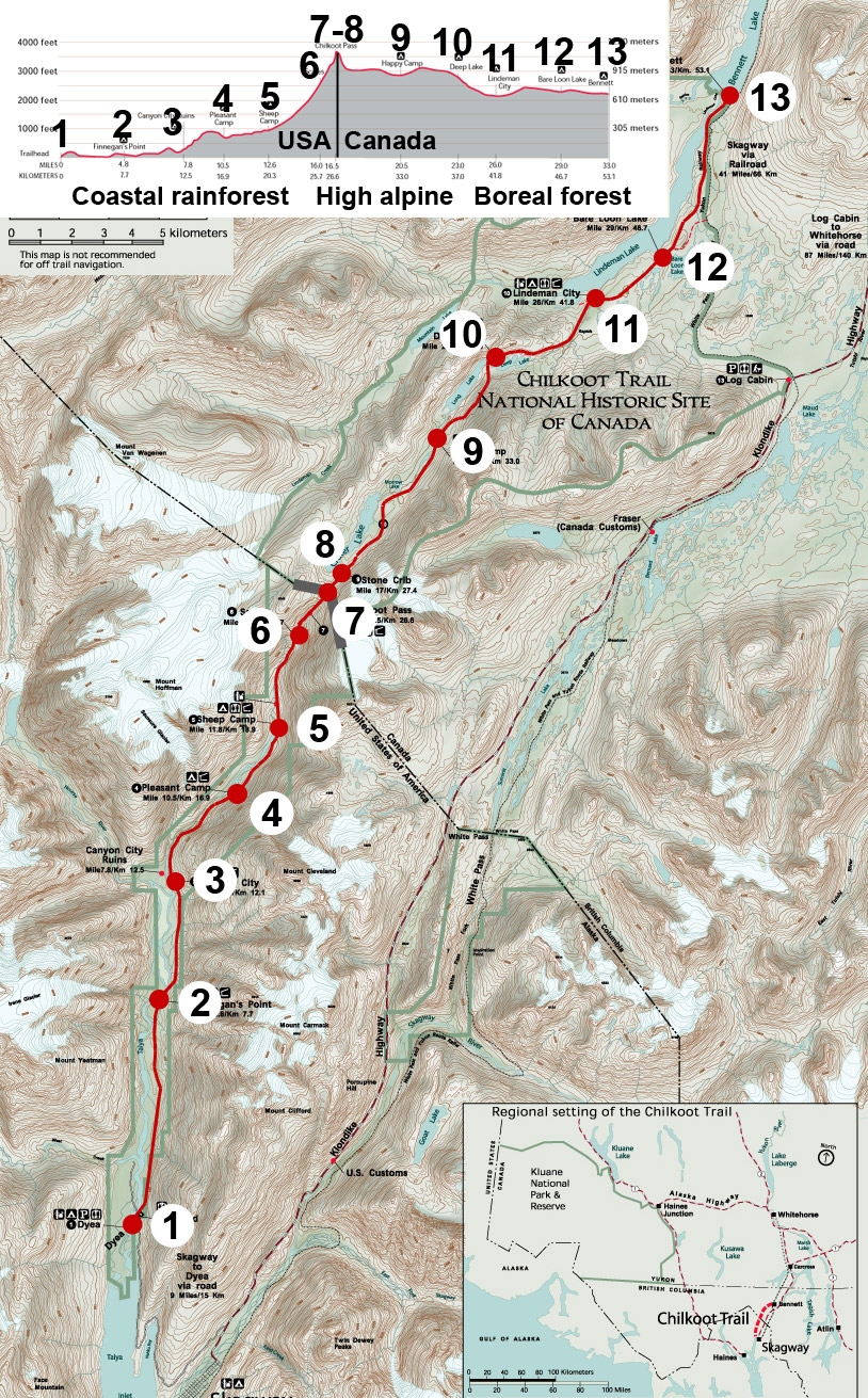 Campgrounds Of The Chilkoot Trail Wikipedia