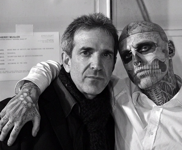 Colin R. Singer with Zombie boy