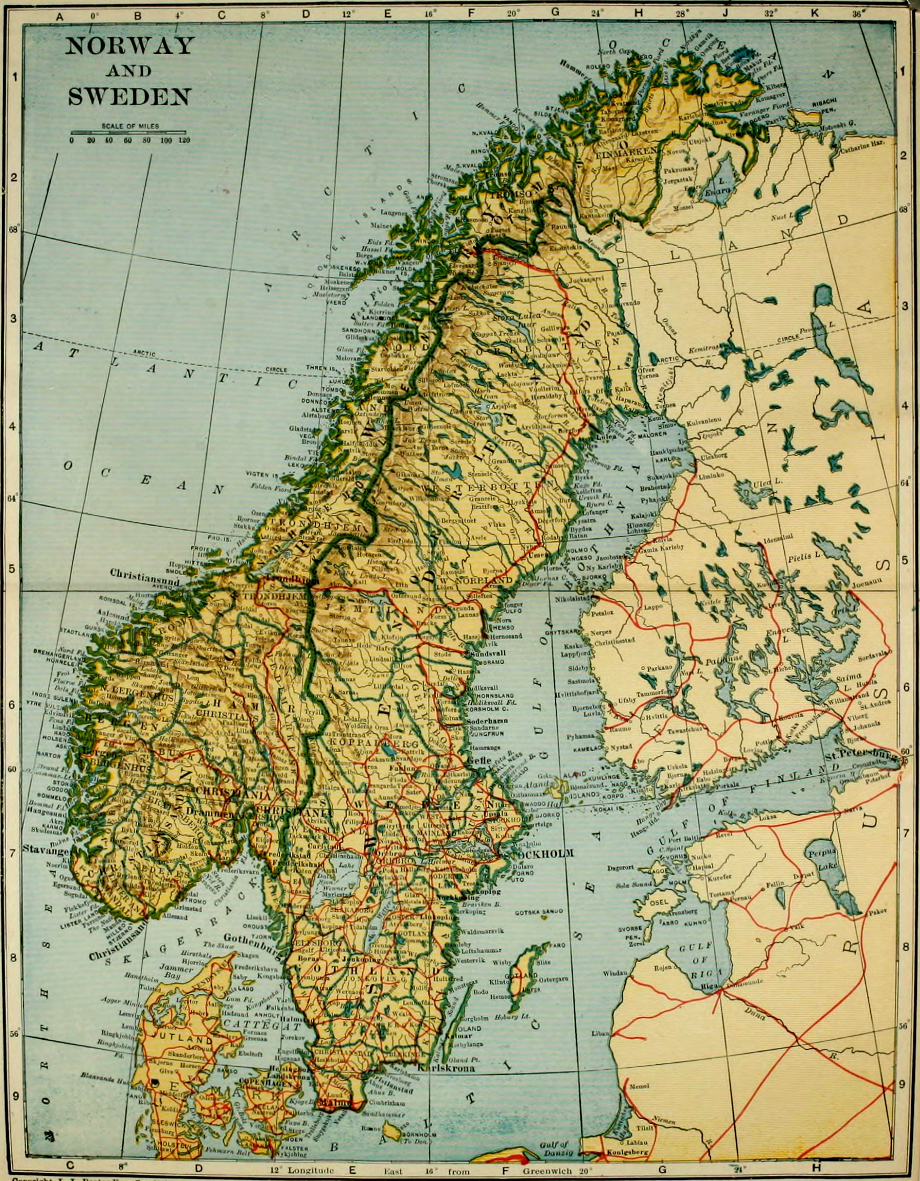 FileColliers Norway Map Of Norway And Swedenjpg - Norway map picture