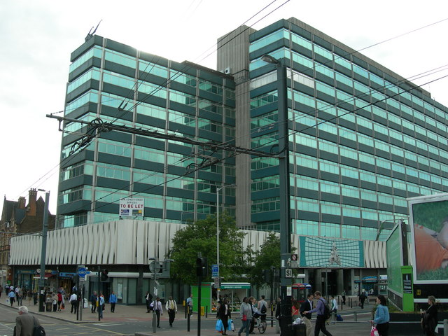 File:Corner of George Street and Dingwall Road, Croydon - geograph ...