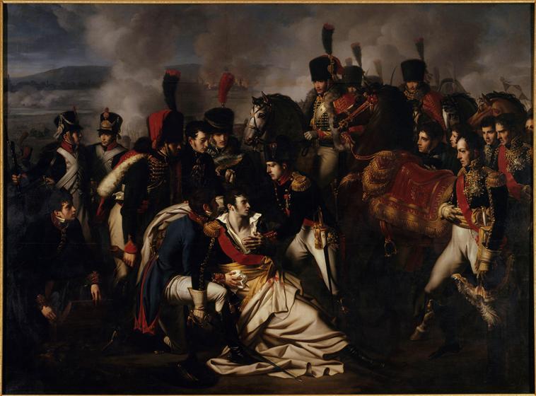 Derniers moments du Maréchal Lannes à la Bataille d'Essling (Albert Paul Bourgeois)