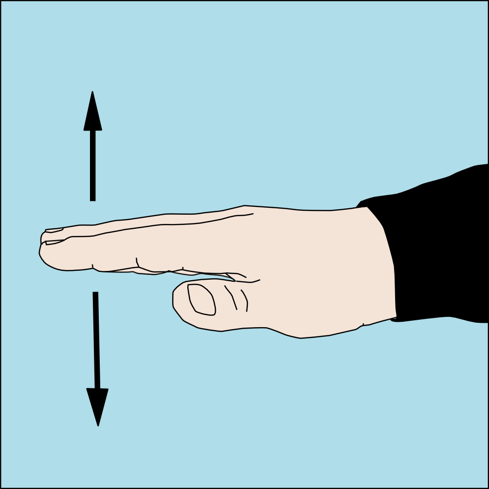 Slow Down Diving Hand Signal