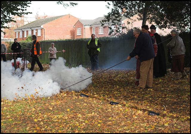 Firing the Fenny Poppers (2) - geograph.org.uk - 1595463.jpg English: Firing the Fenny Poppers (2). See 1595456 for details. Date 11 November