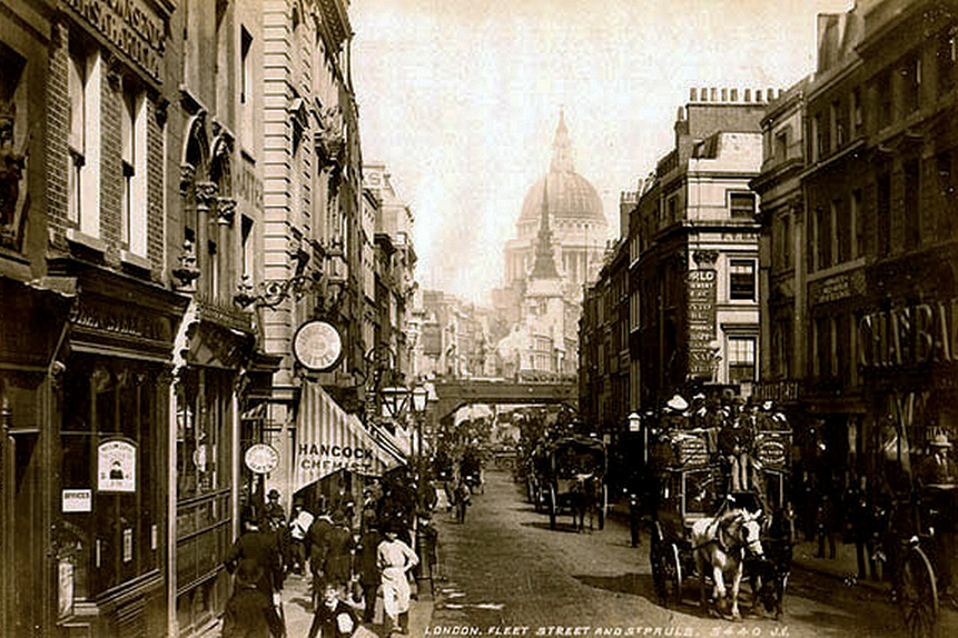 Archivo: Fleet Street.  Por James Valentine c.1890 .. jpg