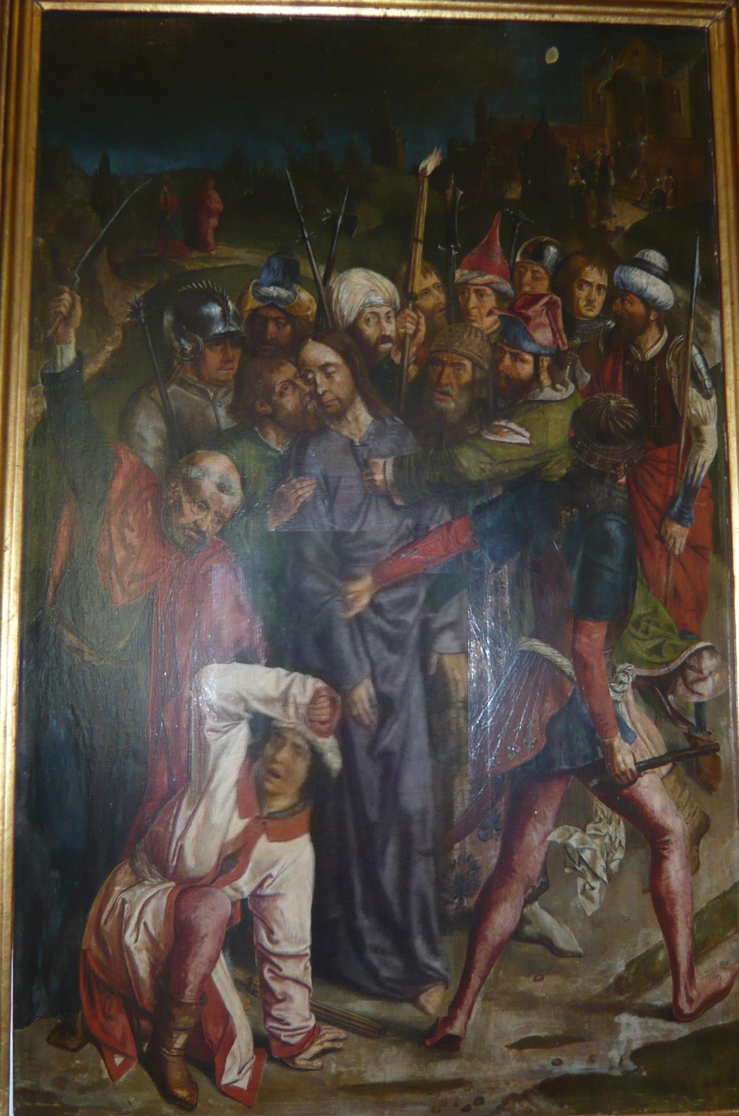 File:Follower of Dieric Bouts - Arrest of Jesus 1485-1500.jpg