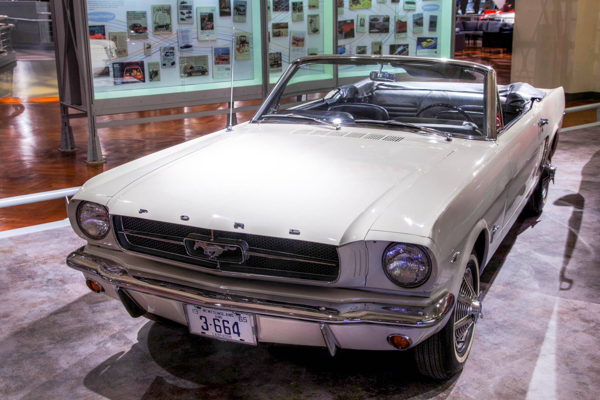 1964½ mustang convertible serial 1 sold to stanley tucker who was given the one millionth mustang in exchange for his historic car