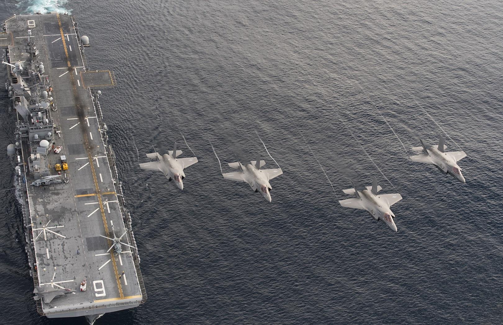 F-35B Lightning II • Aboard Amphibious Assault Ship • USS Makin Island Northern Edge 2021