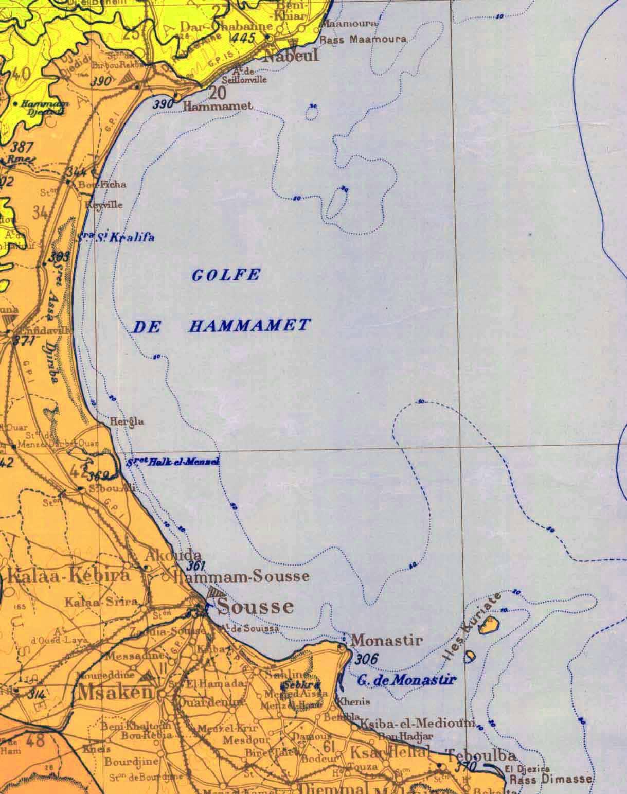 Carte Tunisie Hammamet.Fichier Golfe Hammamet Carte Jpg Wikipedia