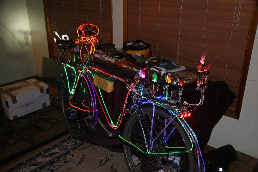 Подсветка велосипед своими руками