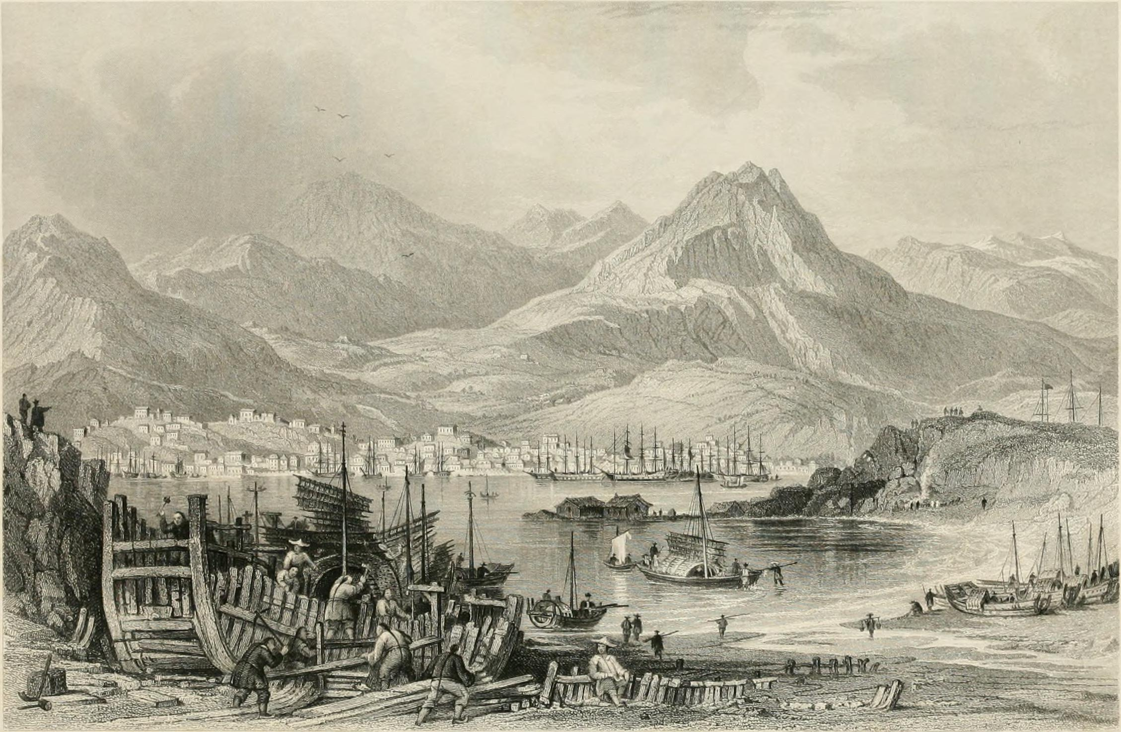 Engraving of Hong Kong Island