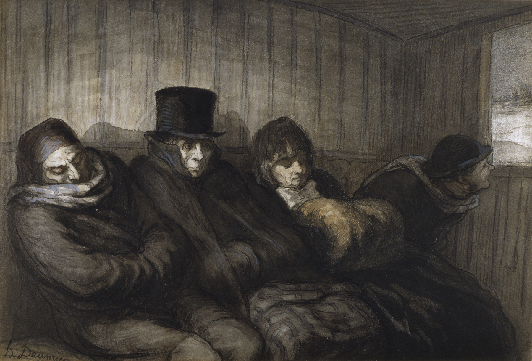 file honor daumier the second class carriage walters