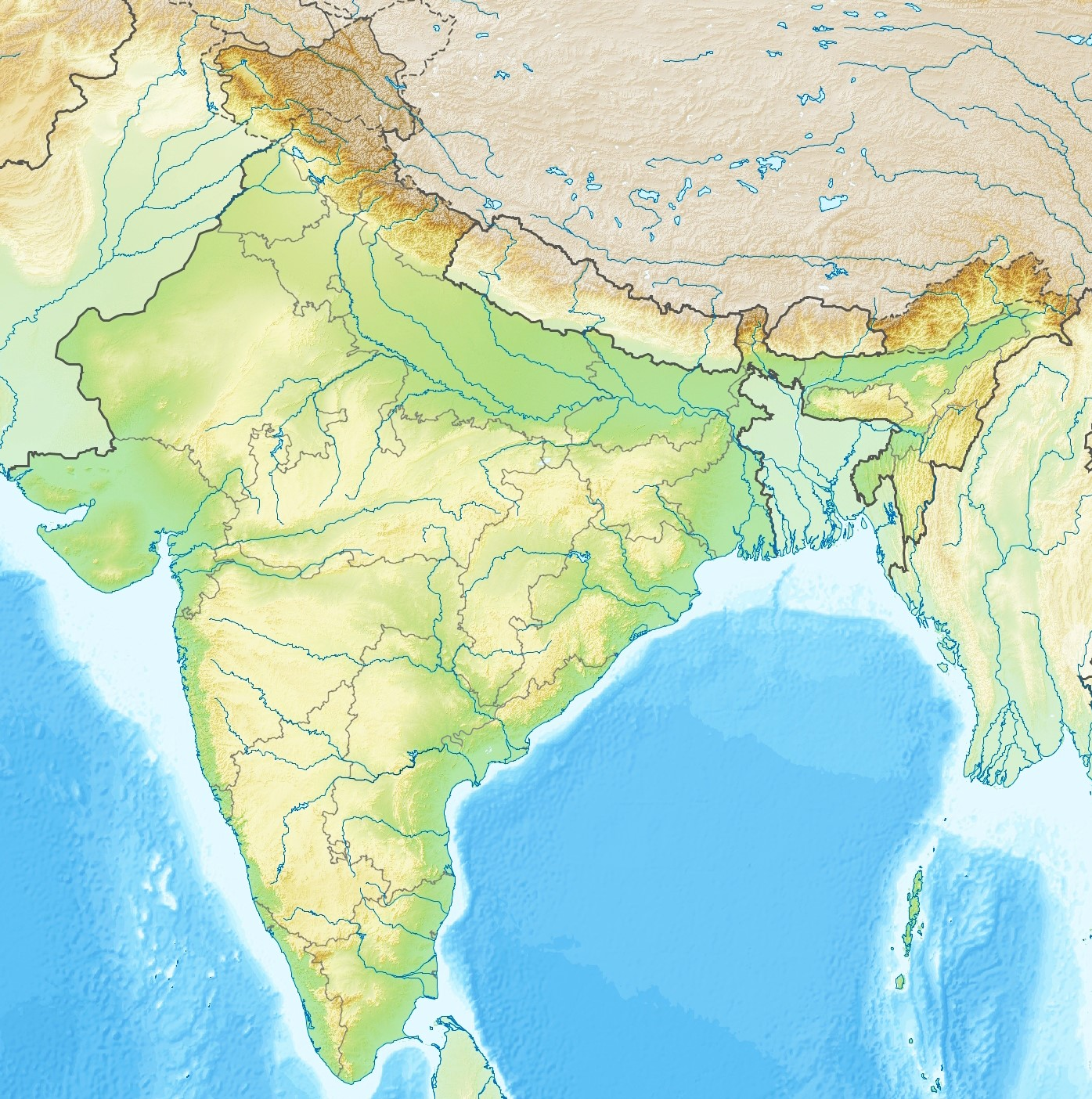 File India Topographic Map Jpg Wikimedia Commons
