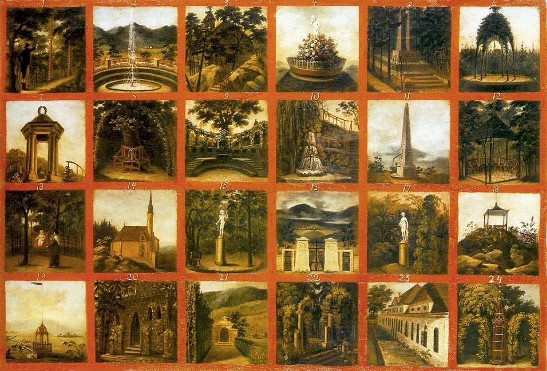 File:János Rombauer - English Garden in the Csáky Castle at Hotkóc ...