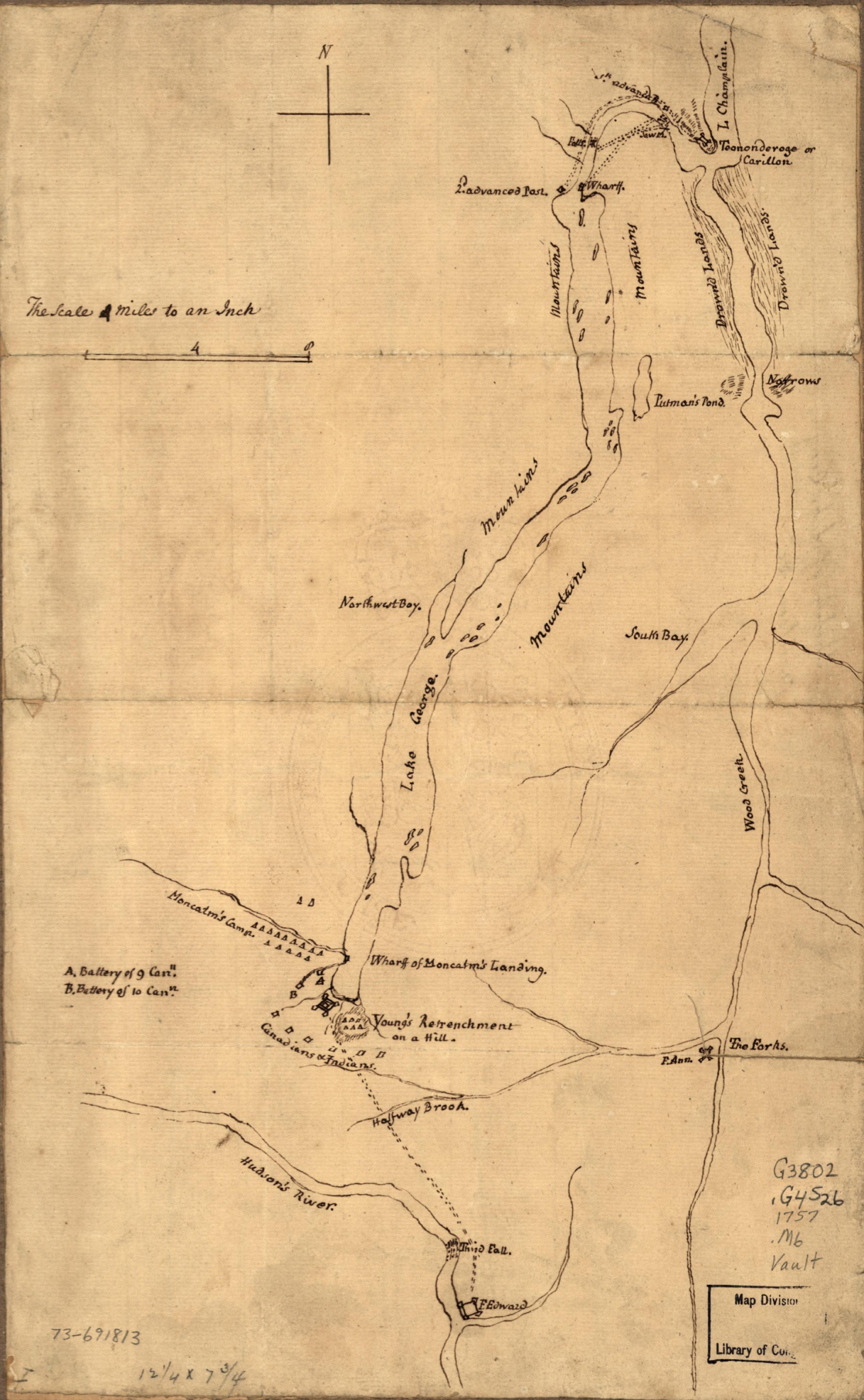 Plan de la bataille de Fort William Henry