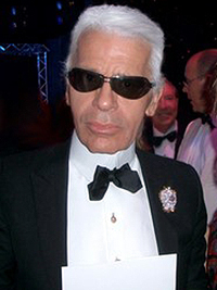 Karl Lagerfeld at the Red Cross Ball in Monaco...