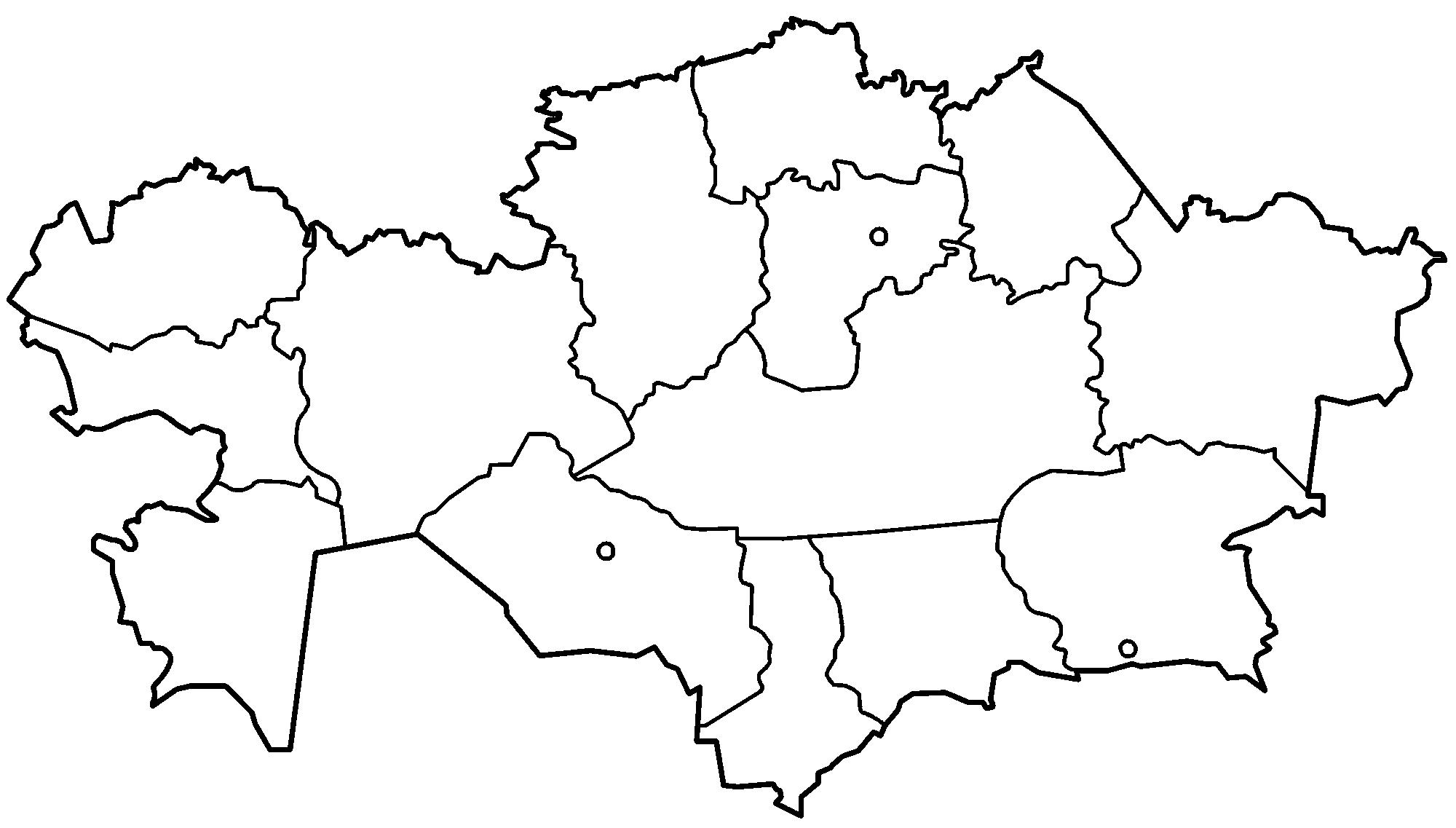 Карта казахстан раскраска