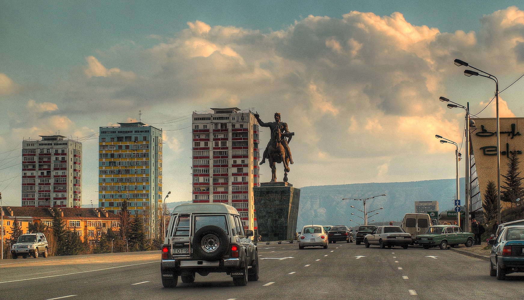File King David The Builder Monument In Tbilisi