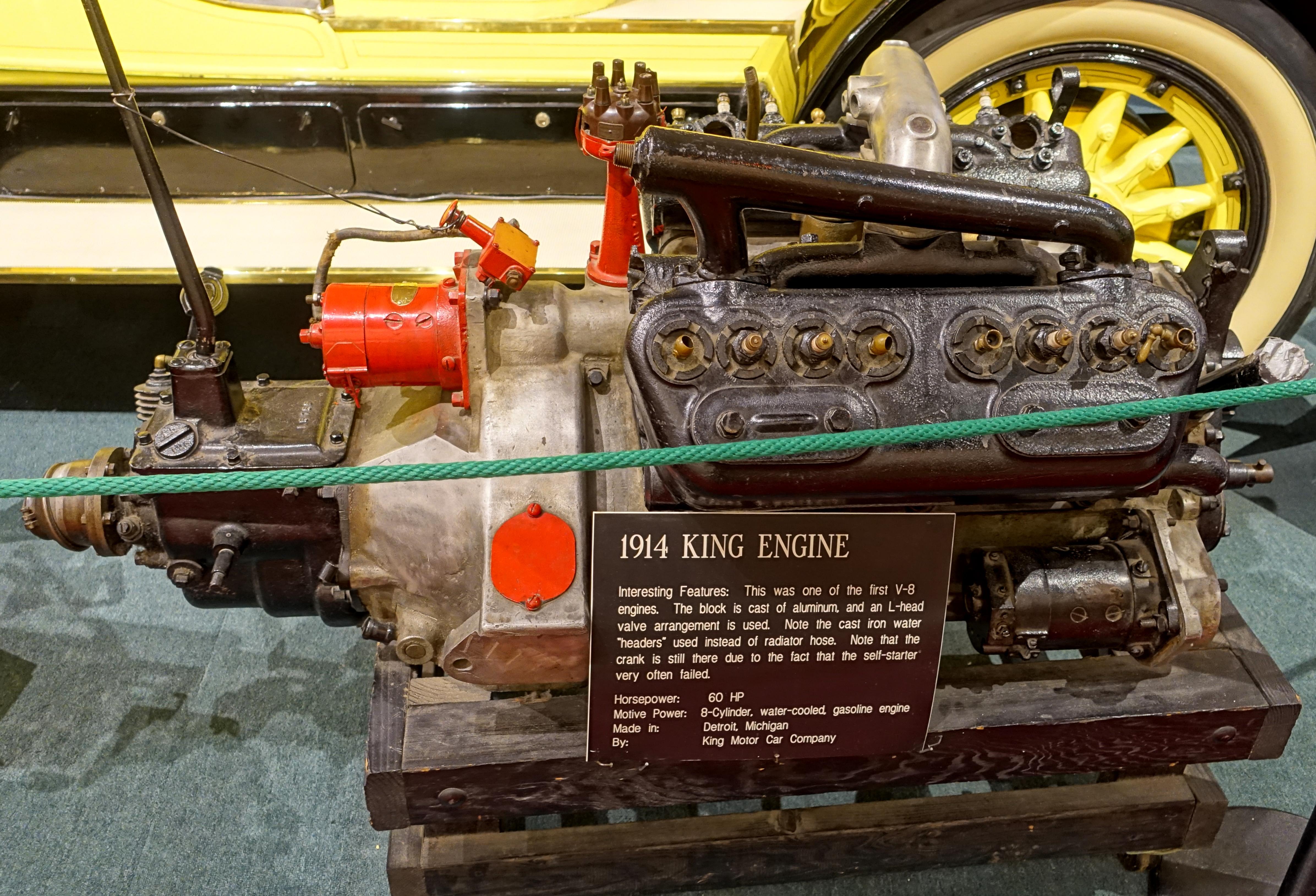 File:King engine, 1914, King Motor Car Co., Detroit, 60 HP, cast ...