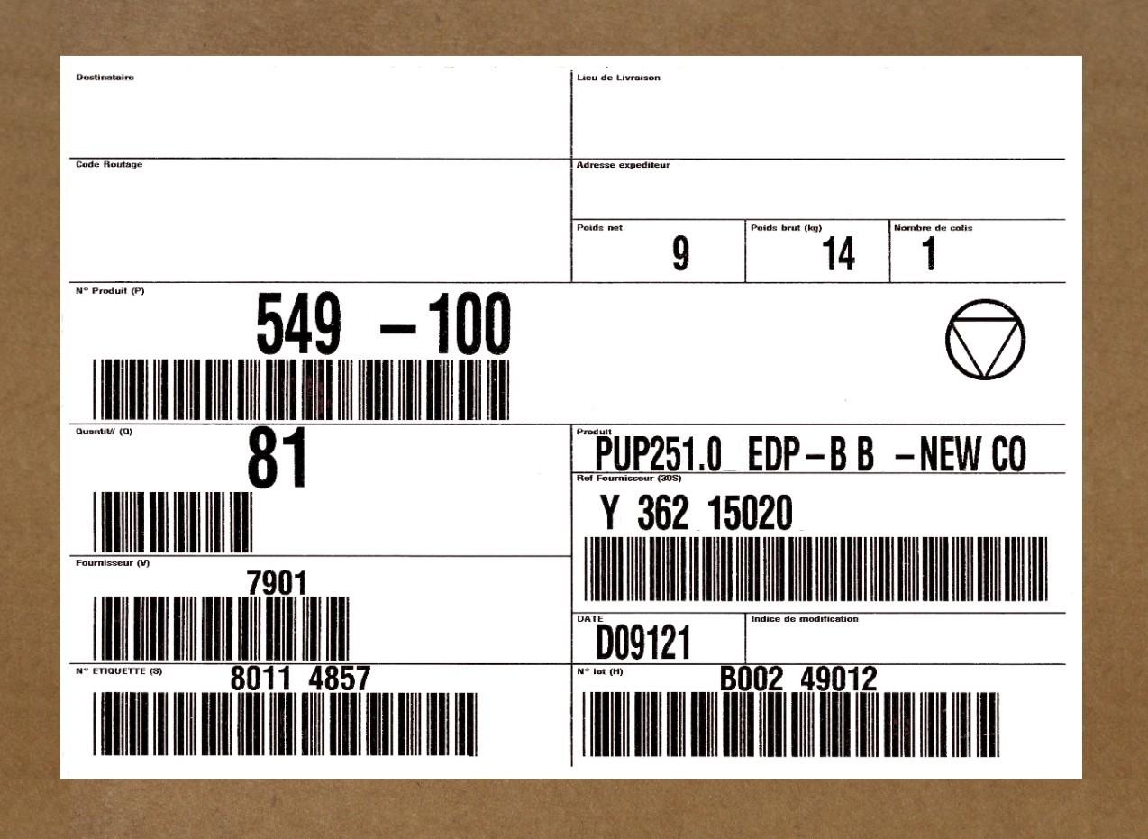 Bien connu File:Label sur carton.jpg - Wikimedia Commons RR46