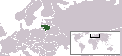 Location of Lithuania