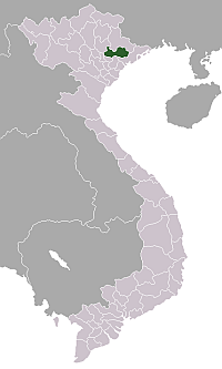 Location of Bắc Giang Province