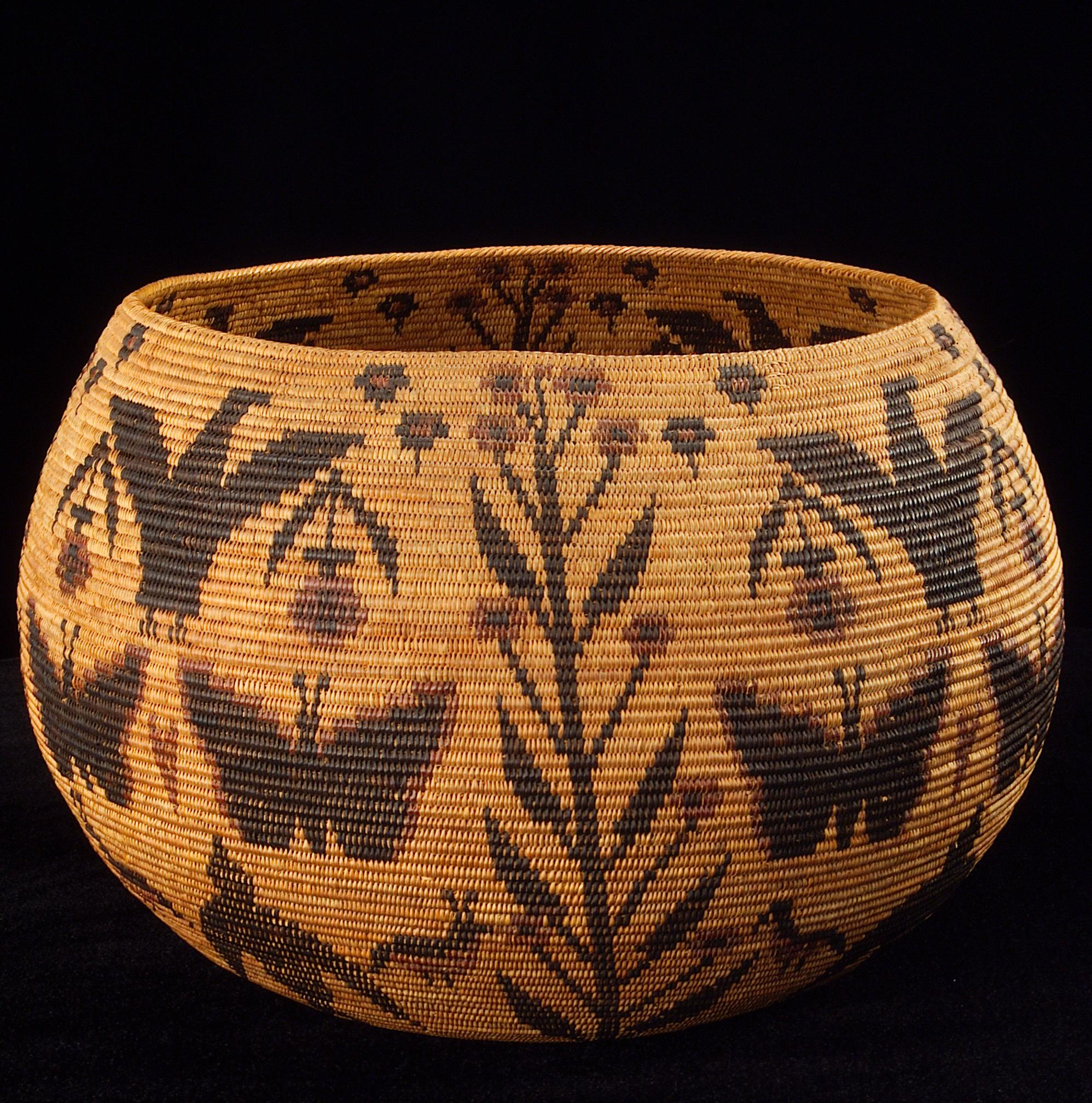 Basket Weaving Origin : Miwok art crafts california indians