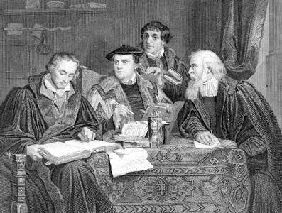 Luther Menchton Pomeranus und Cruciger
