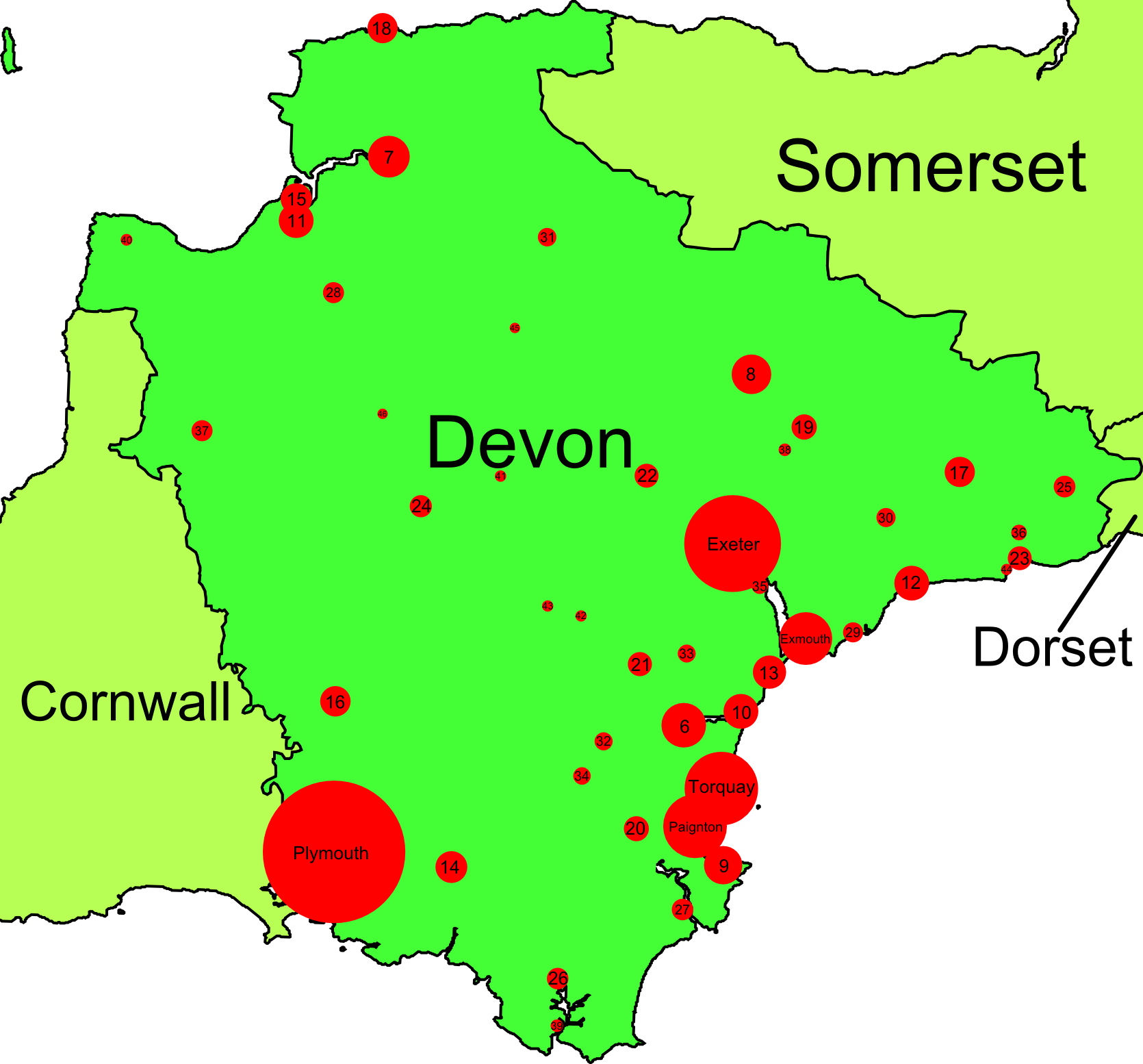 List of towns and cities in devon by population wikipedia for The devon