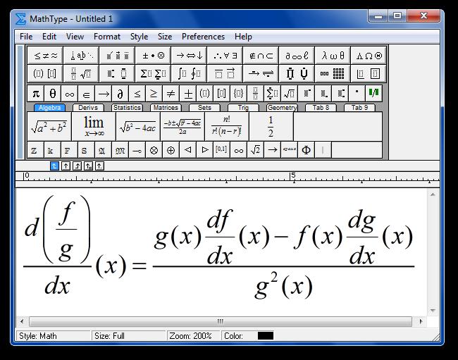 Mathtype 6.0 Equation скачать