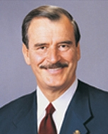 Davis sought to improve relations with Mexican President Vicente Fox.