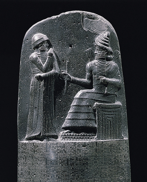 Upper part of the Stela of Hammurabi's Code
