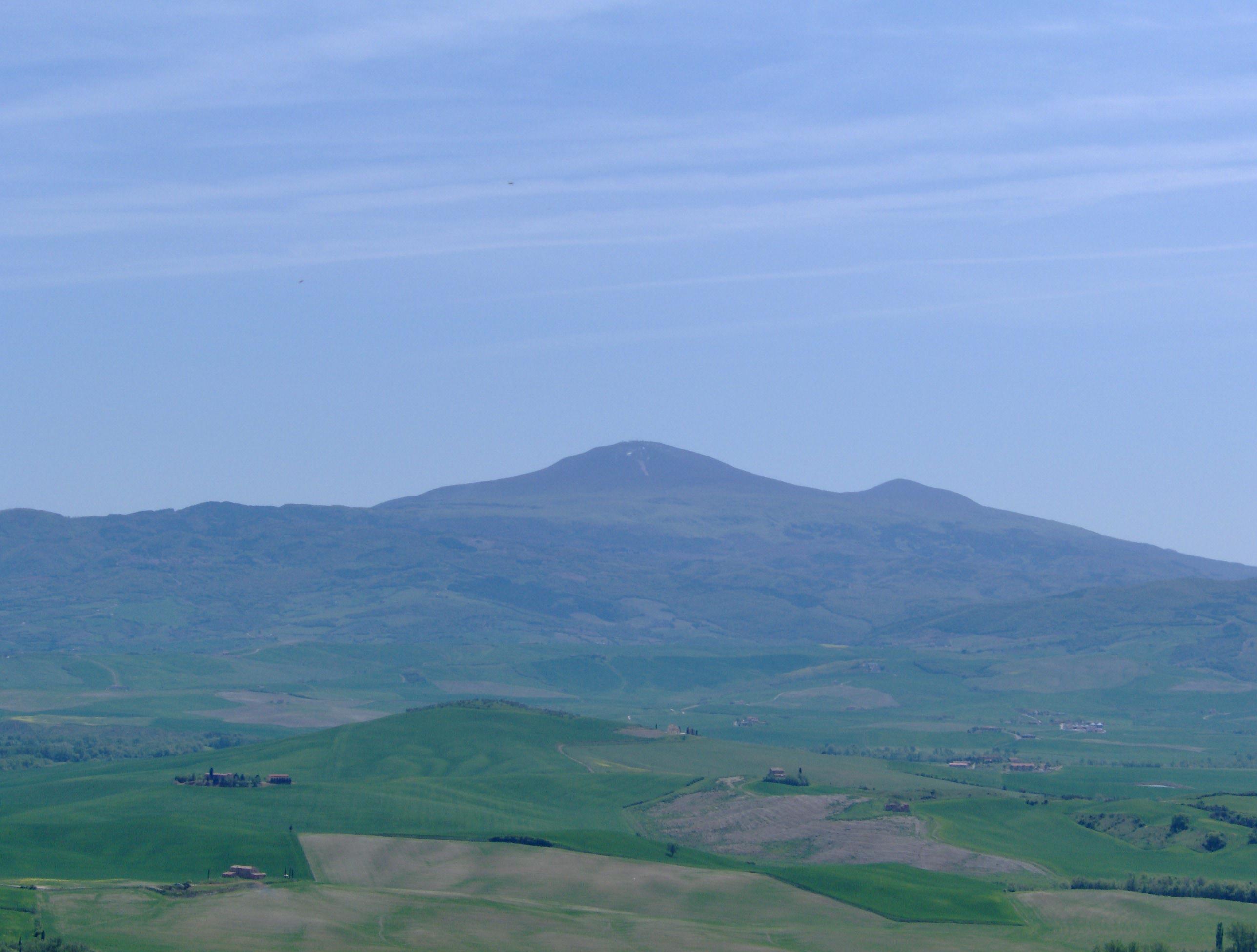 De Monte Amiata vanuit Pienza