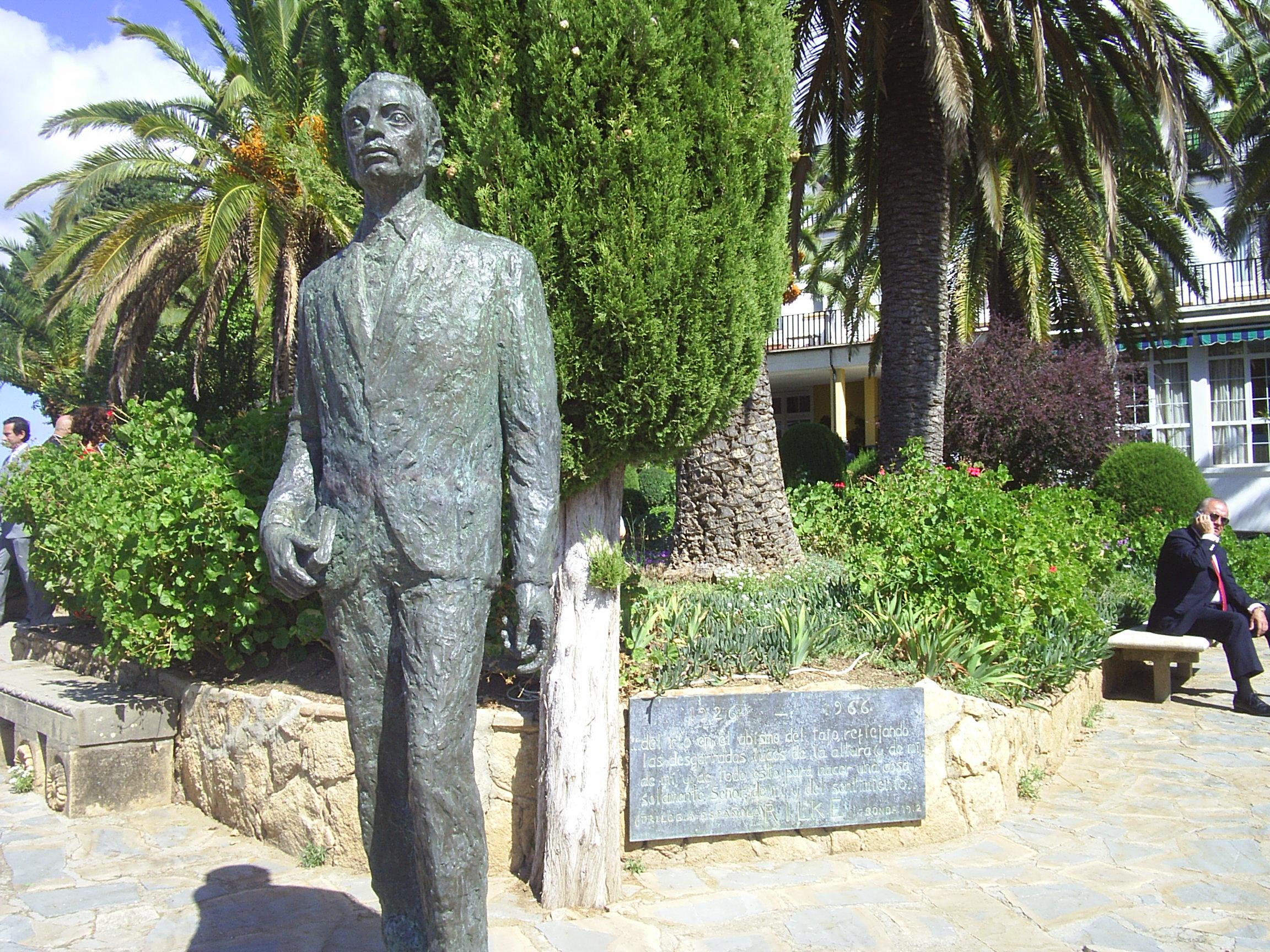 File Monumento A Rilke Ronda Jpg Wikimedia Commons