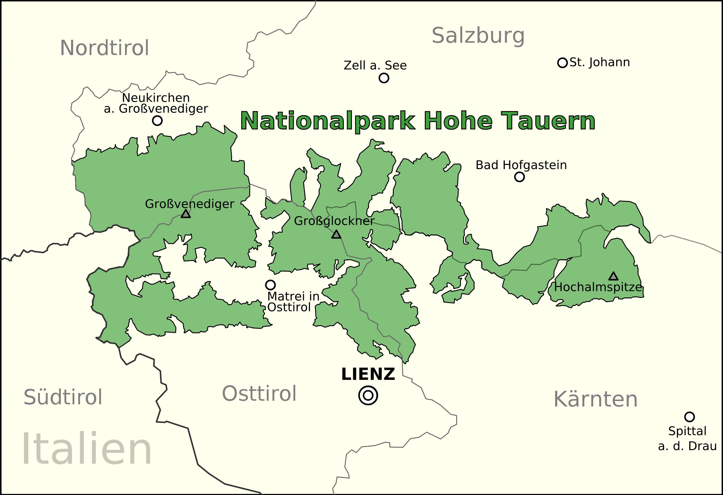 Hohe Tauern Karte.Datei Nationalpark Hohe Tauern Png Wikipedia