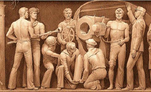 Naval Gun Crew in the Spanish American War