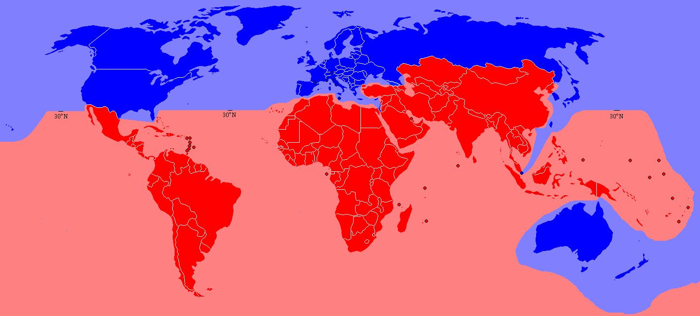 Cartina Nord Mondo.Divisione Nord Sud Wikiwand