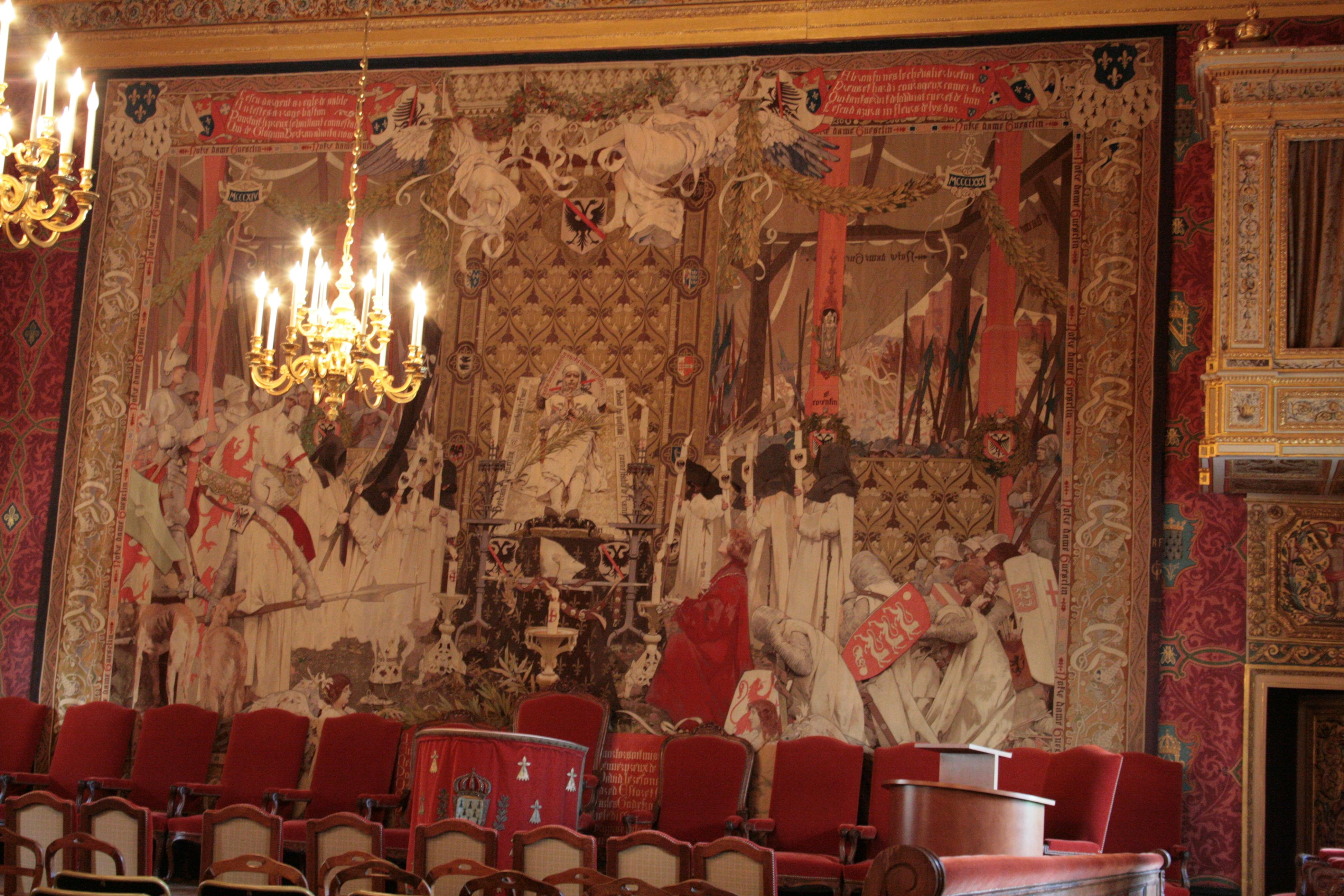File palais du parlement de bretagne grand chambre for Tapisserie de chambre