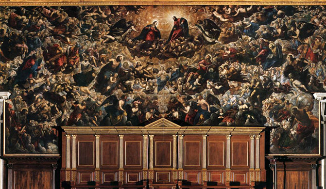 Image result for il paradiso di tintoretto