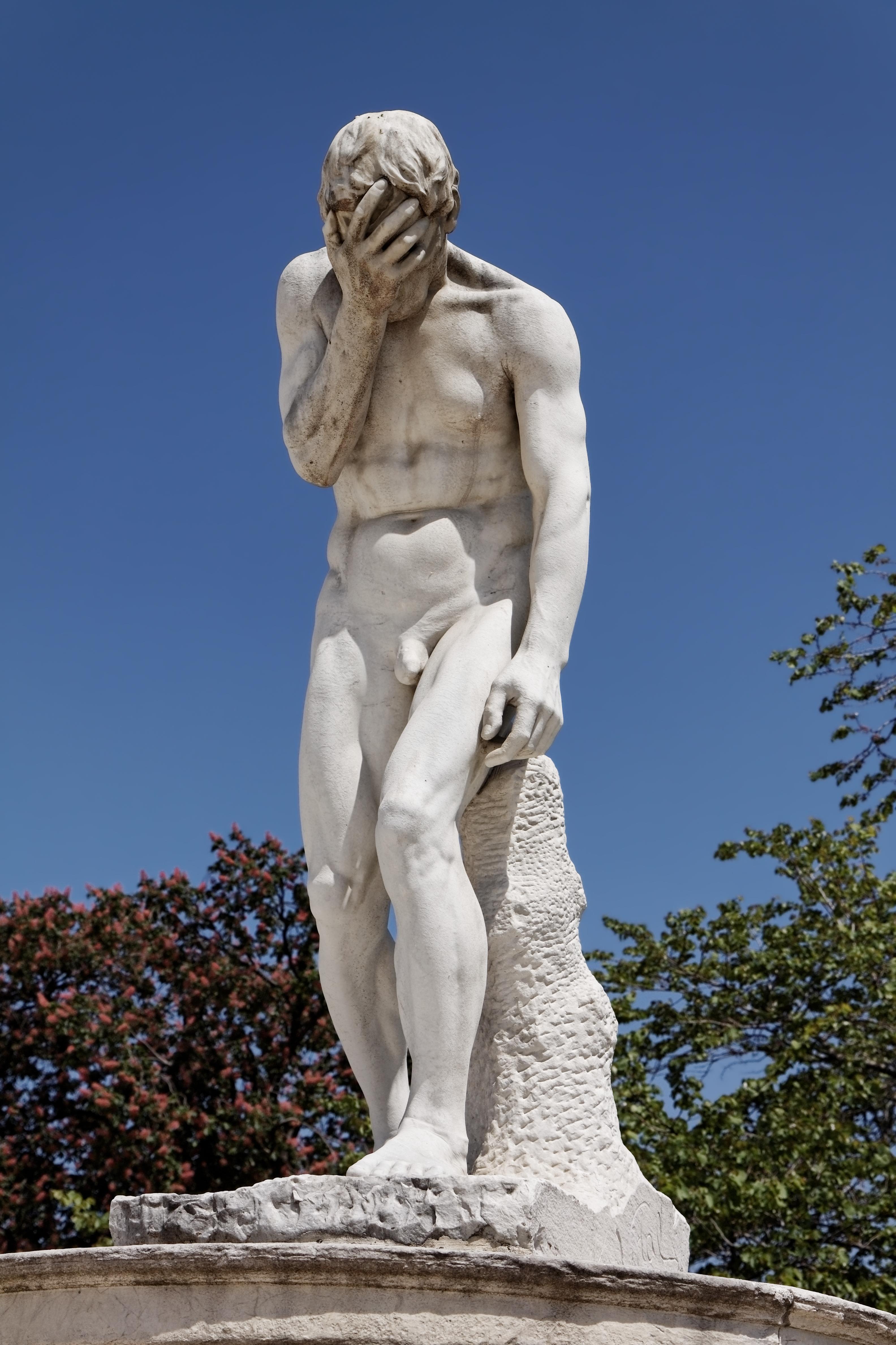 File paris jardin des tuileries henri vidal ca n venant de tuer son fr re abel - Statues jardin des tuileries ...