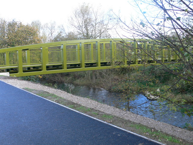 Pont Begard - foot and bicycle bridge over the Elwy, St Asaph - geograph.org.uk - 608398