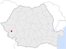 Location of Reşiţa