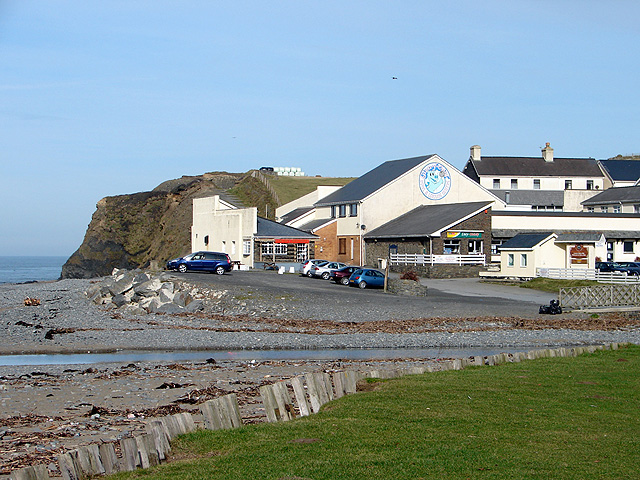 Restaurant and shops at the north end of Clarach Bay - geograph.org.uk - 1166720