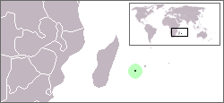 Map showing the location of Réunion National Park