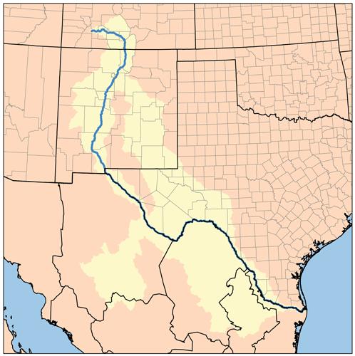 Rio Grande Trail Wikiwand - Map of the rio grande river