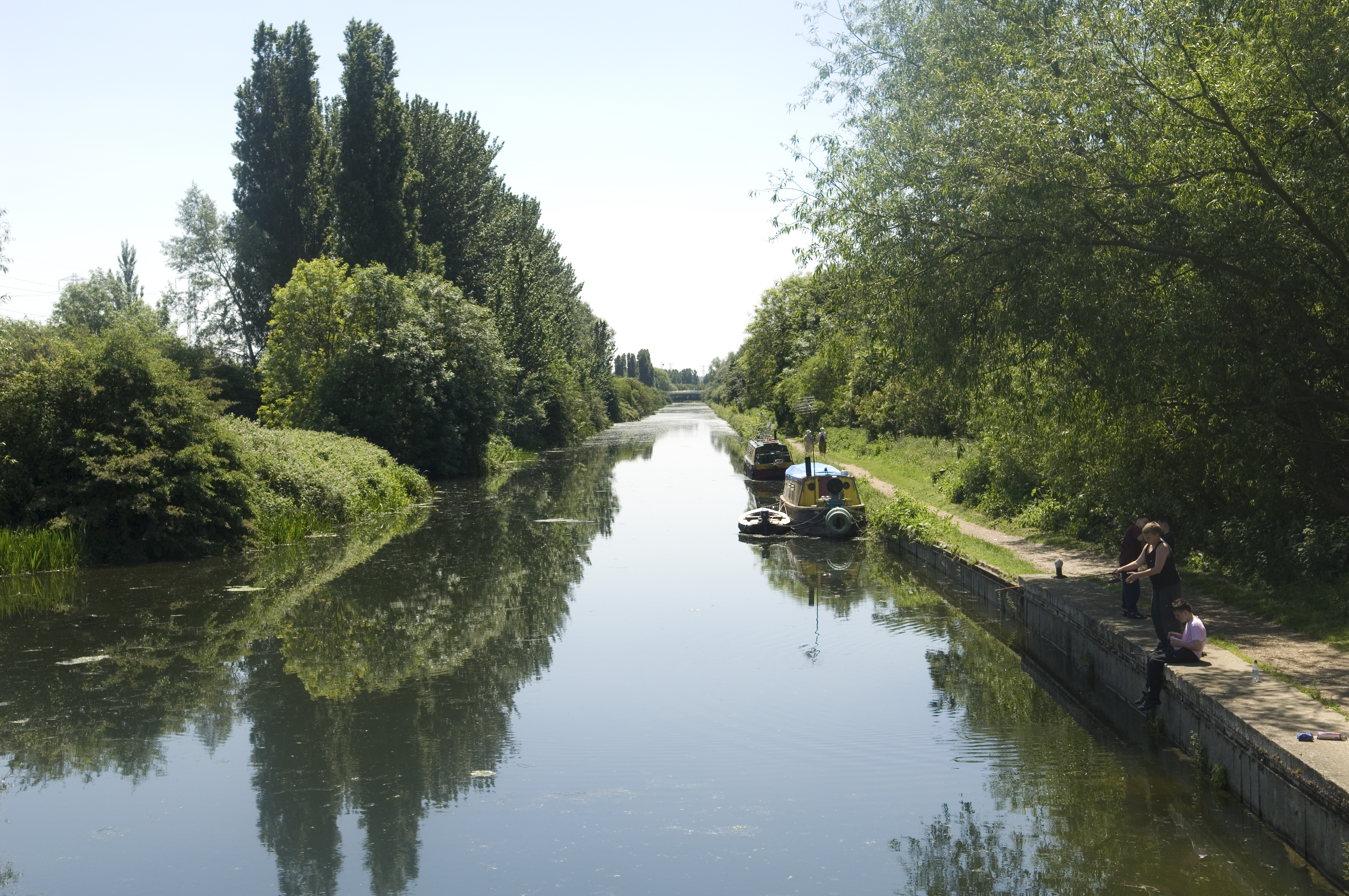 An image of the River Lea in London.